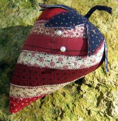 Giant Patriotic Strawberry PincushionPin Keeper by MagPieHandmade, $17.00