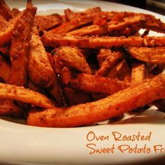 "When I feel fall in the air, I start craving sweet potatoes, collards and pork.  Usually the sweet potatoes are baked but today I tried oven roasted fries to go with a boston butt roast. The spices paired with the potatoes were just right for a nice sweet n salty fall side dish. Actually, I think these fries would be good any time!  Inspried by ""Gimme Some Oven"" blog and our own JAP member and friend Bonnie Dare and her wonderful ""Best Oven Baked Fries"".  I can never get enough of Bonnie's fries!"