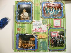 Girl scout scrapbook page so cute