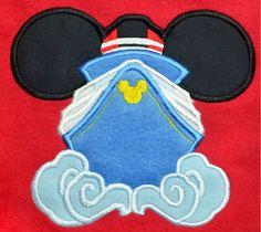 Mice Boat Applique Machine Embroidery Designs by AppliquesByMe