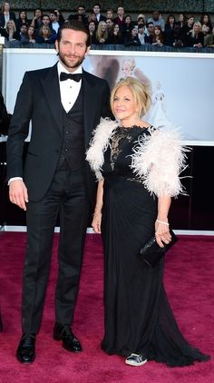 Bradley Cooper and his mother Gloria Cooper   The Moms Of The Oscar RedCarpet