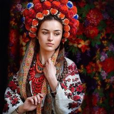 According to models and Vogue, Ukrainian women are bringing back these breath taking traditional flower crowns