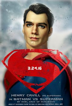"https://flic.kr/p/Fz5ix3 | Henry Cavill as Superman | Actor Henry Cavill as Superman in the upcoming Batman vs. Superman as repainted by me: artist Noel Cruz to be auctioned on eBay on 3.24.2016. This is a 19"" Jakks Superman with a sculpted on suit and majestic red cape. See more examples of my work at my web site: www.ncruz.com/ Twitter: twitter.com/ncruzdollart Google+: plus.google.com/u/0/+NoelCruzCreations Blog: noelcruzcreations.blogspot.com/ Flickr: www.flickr.com/photos/ncruzdol..."