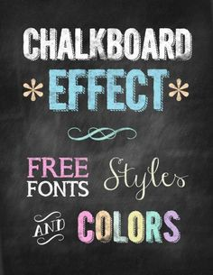 Here are some handy graphic design tips: some free chalkboard styles and effects that you can use in Photoshop for websites and graphic design. There are chalkboard fonts, ornaments, backgrounds, Phot...