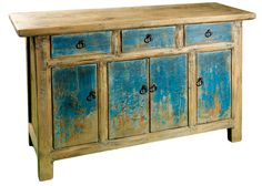 salvaged wood painted | All Cabinets | The Pangaea Collection
