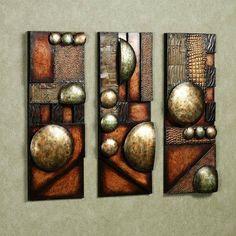 Through Time Metal Wall Sculpture Set