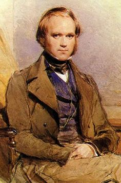 charles darwin sitting painting portrait young man