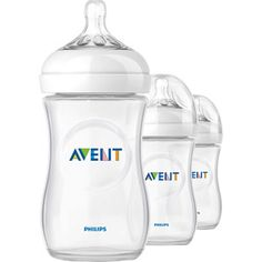 Philips AVENT SCF693/37 BPA Free Natural 9 Ounce Polypropylene Bottles, 3-Pack.$17.96