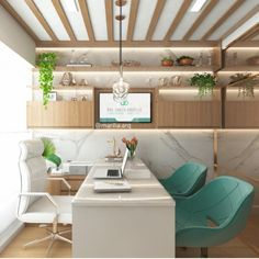 Discover recipes, home ideas, style inspiration and other ideas to try. Doctors Office Decor, Dental Office Decor, Medical Office Design, Home Office Decor, Home Decor, Office Cabin Design, Small Office Design, Small Space Interior Design, Interior Design Living Room