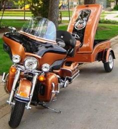 Harley motorcycle trailer from Time Out trailers