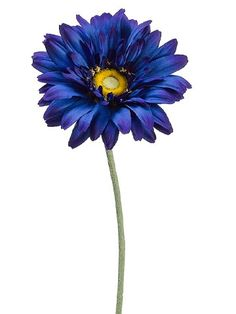 Large Royal Gerbera Daisy Spray Deep Blue (pack of Fake Flowers, Artificial Flowers, Silk Flowers, Dried Flowers, Beautiful Flowers, Floral Centerpieces, Flower Arrangements, Gerbera Flower, Gerbera Daisies