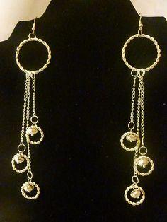 Handmade earrings with beads.