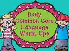 Daily Common Core Language Warm-Ups
