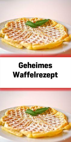 Hidden waffle recipe - enough for about 30 waffles. More than 2540 comments and confirmed as delicio Dinner Recipes, Dessert Recipes, Vegetarian Recipes, Healthy Recipes, Sweets Cake, Food Staples, Waffle Recipes, Keto Snacks, Sweet Recipes