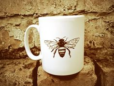 Manchester Worker Bee Mug by TheManchesterBee on Etsy, £7.00
