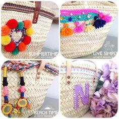 Capazos/Beach tote/ straw bags/paniers http://lepetitpanierandco.blogspot.com