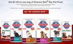 HOT COUPON $$ Save $5 off Any Bag of Hill's Science Diet Dry Pet Food!
