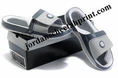 4e172b8a86fb Cheap Air Jordans 9 Massage Slippers White Grey