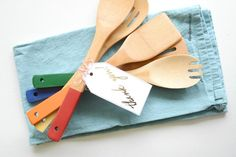 DIY Paint Dipped Utensils  from MichaelsMakers The Idea Room