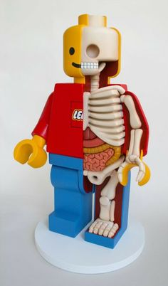 Lego skeleton by Jason Freeny