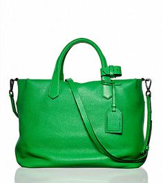 Bright green Reed Krakoff gym bag.
