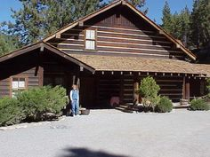 The Ponderosa ranch at Lake Tahoe, where the TV show Bonanza was filmed. Yes, that is me standing there.