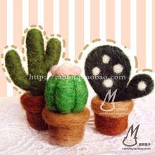 Cactus, plants, vase, Succulent -  - ★ ★ ≧ ▽ ≦ ★ ● wool felt material shop】 ● - Taobao