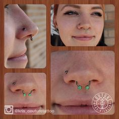 @chab00ty_ won't stop until she has jewelry that makes everyone jealous. Healed septum featuring a front facing circular barbell from @anatometalinc with prong set lime opal threaded ends  #legitbodyjewelry #couturetattoo #couturebodypiercing #healedpiercings #septumpiercing #cantonoh #kcco  (at Couture Tattoo)