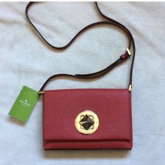 """NWT Kate spade Newbury lane Sally Brand new: 4.9"""" h X 7.4 w X 1.1""""d. Drop length: 22.5"""". Total strap length: 45"""". Material: cross hatched leather with matching trim, small quilt lining, 14 karat light gold plated hardware kate spade Bags Crossbody Bags"""