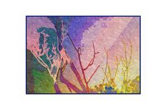 Abstract Greeting Card Tree Shadows  Nature Unfolds by CardTales, $3.50