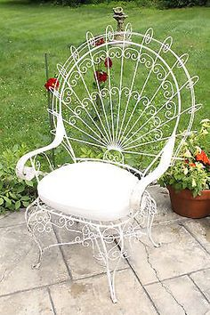 CASTLE FURNITURE Collection On EBay! Wrought Iron Outdoor Furniture, Vintage  Patio Furniture, Iron