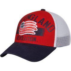 sale retailer 5e21e 65d38 Men s New England Revolution adidas Red Navy Trucker Adjustable Hat, Your  Price   23.99