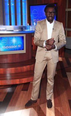 Tony in Dries Van Noten suit, H shirt, Barney's co-op monks