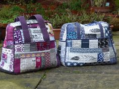 Patchwork Weekender Bag 2 by Laura @ Needles, Pins and Baking Tins, via Flickr