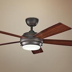 """52"""" Kichler Starkk Olde Bronze Ceiling Fan"""