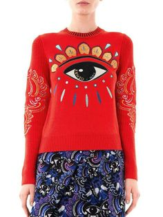 Lotuseye Embroidered Sweater - Lyst