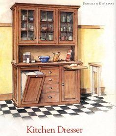 Freestanding Butler S Pantry Kitchen Dresserkitchen Cupboardsvictorian