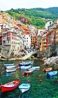 Italian seaside village of Riomaggiore in the Cinque Terre