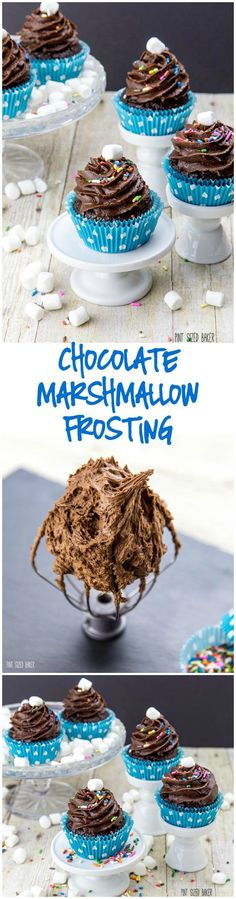 Simply the best Chocolate Marshmallow Frosting recipe. It makes some of the best cupcakes even better