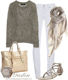 """""""open knit sweater"""" by stacy-gustin ❤ liked on Polyvore"""