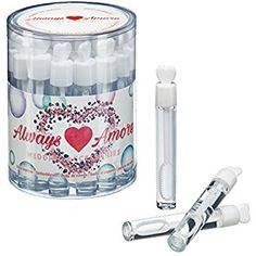always amore - Wedding Bubbles dans leurs 24 petits flacons en verre, belles bulles de savon pour les mariages dans un joli emballage cadeau, bulles de savon pour les mariages, cadeau de mariage, bulles de savon pour les fêtes, anniversaires, 24 pièces