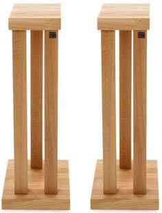Hi Fi Racks Podium T5 3 Leg 600mm Speaker Stands - Oak