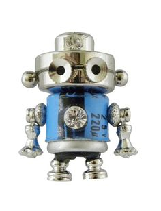 The cutest tiny robots ever!! Made from used computer parts.