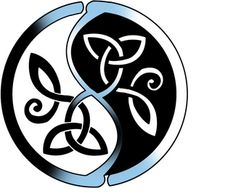 Yin and Yang w/Celtic knot