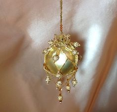 Beaded Christmas ornament cover/ready for by ElegantPerle on Etsy