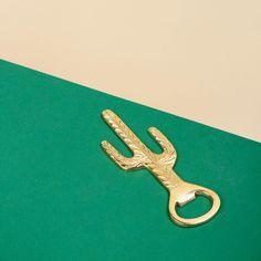 brass cactus opener from &k amsterdam