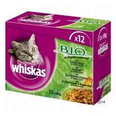 Animalerie Whiskas Bio 12 x 100 g pour chat viande biologique