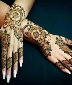 Mehndi henna designs are always searchable by Pakistani women and girls. Women, girls and also kids apply henna on their hands, feet and also on neck to look more gorgeous and traditional. Latest Henna Designs, Modern Mehndi Designs, Mehndi Designs For Girls, Mehndi Designs For Fingers, Dulhan Mehndi Designs, Latest Mehndi Designs, Simple Mehndi Designs, Mehandi Designs, Tatoo Henna