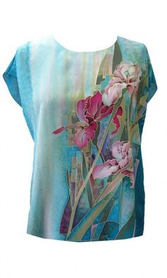 Silk Clothing - The Ultimate in Femininity Hand Painted Dress, Painted Clothes, Painted Silk, Dress Painting, Silk Painting, Batik Art, Silk Art, Silk Scarves, Shirts