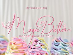 Magic Butter is a simple, clean, casual script font. Get inspired by its authentic elements and add a touch of elegance to any design project. Modern Script Font, Handwritten Fonts, All Fonts, Commercial Use Fonts, Cricut Fonts, Creating A Brand, Premium Fonts, Icon Font